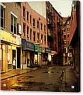 New York City - Rainy Afternoon - Doyers Street Acrylic Print
