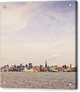 New York City Skyline And The Hudson River Acrylic Print