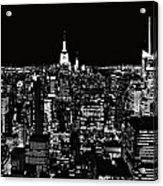 New York City Skyline At Night Acrylic Print