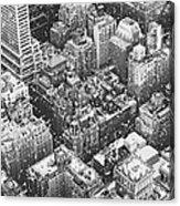 New York City - Skyline In The Snow Acrylic Print