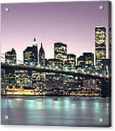New York City Skyline Acrylic Print by Jon Neidert