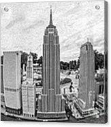 New York City Skyline - Lego Acrylic Print by Edward Fielding
