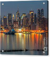 New York City Skyline Morning Twilight Xii Acrylic Print