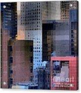 New York City Skyline No. 3 - City Blocks Series Acrylic Print