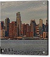 New York City Skyline Panoramic Acrylic Print