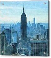New York City Skyline Summer Day Acrylic Print