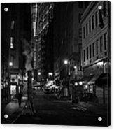 New York City Street - Night Acrylic Print by Vivienne Gucwa