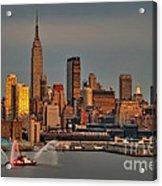 New York City Sundown On The 4th Acrylic Print by Susan Candelario