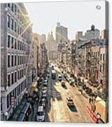 New York City - Sunset Above Chinatown Acrylic Print