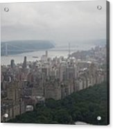 New York City Syline Draped In Clouds Acrylic Print