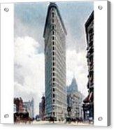 New York City - The Flatiron Building - Fifth Avenue - 1904 Acrylic Print