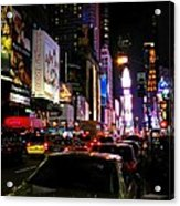 New York City - Times Square 002 Acrylic Print by Lance Vaughn