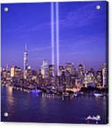 New York City Tribute In Lights World Trade Center Wtc Manhattan Nyc Acrylic Print
