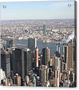 New York City - View From Empire State Building - 121218 Acrylic Print by DC Photographer