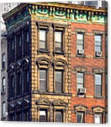 New York City - Windows - Old Charm Acrylic Print