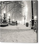 New York City Winter Night Acrylic Print