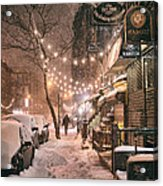 New York City - Winter Snow Scene - East Village Acrylic Print
