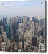 New York From Above Acrylic Print