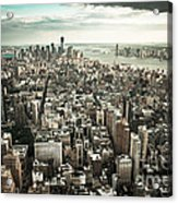 New York From Above - Vintage Acrylic Print