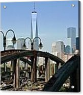 New York From New Jersey - Image 1633-01 Acrylic Print