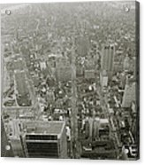 New York From The Trade Towers Acrylic Print