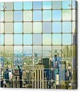 New York Golden Panorama Acrylic Print