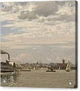 New York Harbor From Bedloe's Island Acrylic Print