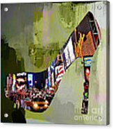 New York In A Shoe Acrylic Print