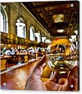 New York In My Hand - Public Library Acrylic Print