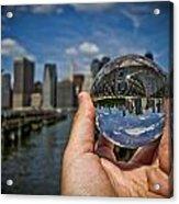 New York In My Hand - Sferic Manhattan II Acrylic Print