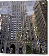 New York In Vertical Panorama Acrylic Print