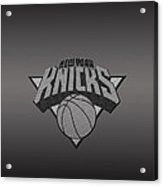 New York Knicks Acrylic Print by Paulo Goncalves