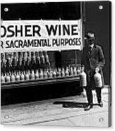 New York Kosher Wine For Sale Acrylic Print