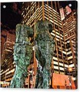 New York - Looking Toward The Avenue Acrylic Print