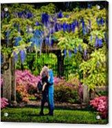 New York Lovers In Springtime Acrylic Print