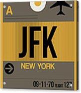 New York Luggage Tag Poster 3 Acrylic Print