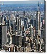 New York Manhattan Areal View  Acrylic Print by Lars Ruecker