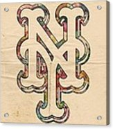 New York Mets Poster Art Acrylic Print