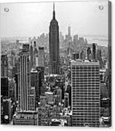 New York Moody Skyline  Acrylic Print