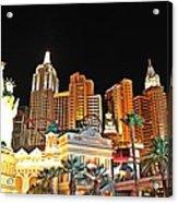 New York New York Hotel And Casino Acrylic Print