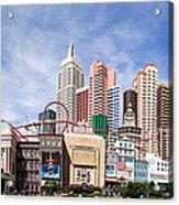 New York New York Las Vegas Acrylic Print by Jane Rix