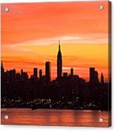 New York November Dawn Acrylic Print