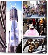 New York Nyc Collage Acrylic Print
