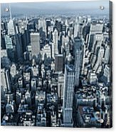New York Panoramic View From Empire Acrylic Print