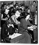 New York Police Exam, 1947 Acrylic Print