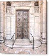 New York Public Library Entrance I Acrylic Print