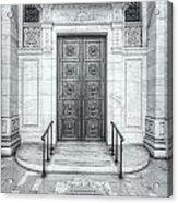 New York Public Library Entrance II Acrylic Print