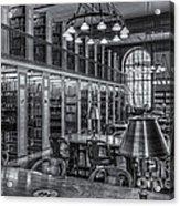 New York Public Library Genealogy Room II Acrylic Print