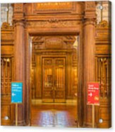 New York Public Library Main Reading Room Entrance I Acrylic Print