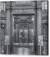 New York Public Library Main Reading Room Entrance II Acrylic Print